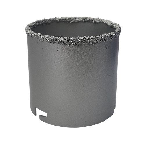 Боркорона KEIL 73х66/60мм, с посипка от волфрам-карбид, захват шлици, за керамика и др.
