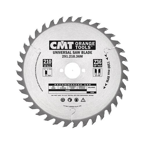 Диск с твърдосплавни пластини CMT 125/2.4/20 Z=20, за рязане на мека и твърда дървесина, шперплат