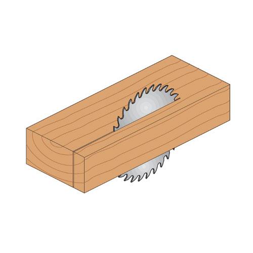 Диск с твърдосплавни пластини CMT 130/2.4/20 Z=20, за рязане на мека и твърда дървесина, шперплат - big, 87853