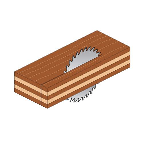 Диск с твърдосплавни пластини CMT 130/2.4/20 Z=20, за рязане на мека и твърда дървесина, шперплат - big, 87855