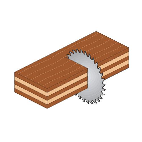 Диск с твърдосплавни пластини CMT 130/2.4/20 Z=20, за рязане на мека и твърда дървесина, шперплат - big, 87856