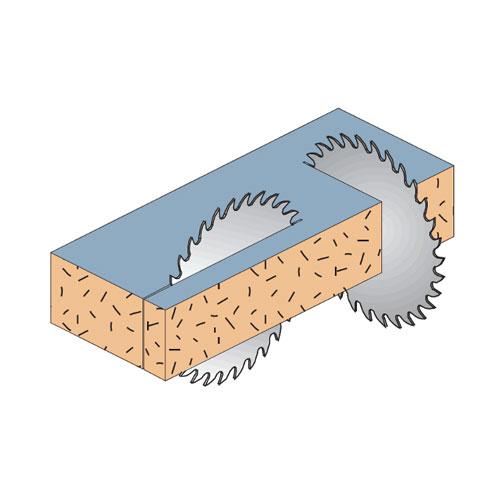 Диск с твърдосплавни пластини CMT 160/2.2/20 Z=40, за рязане на алуминий, месинг, медни сплави, пластмаса, меламин и др. - big, 87299