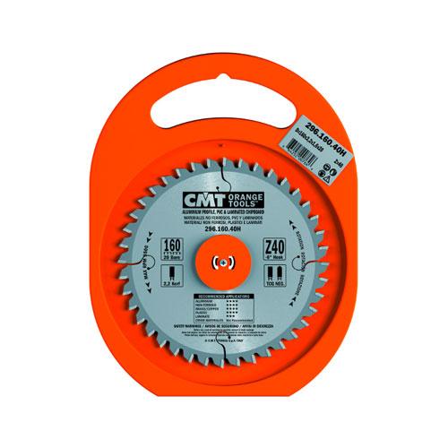 Диск с твърдосплавни пластини CMT 160/2.2/20 Z=40, за рязане на алуминий, месинг, медни сплави, пластмаса, меламин и др. - big, 87301