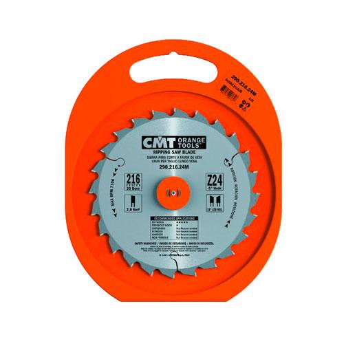 Диск с твърдосплавни пластини CMT 250/2.8/30 Z=24, за рязане на мека и твърда дървесина - big, 87388