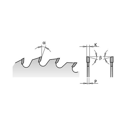 Диск с твърдосплавни пластини CMT 300/3.2/30 Z=24, за рязане на мека и твърда дървесина - big, 86662
