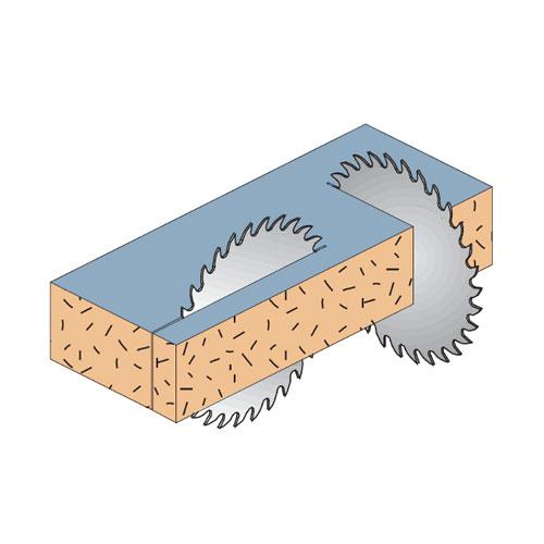 Диск с твърдосплавни пластини CMT 300/3.2/30 Z=96, за рязане на единична или двойна едностранно ламинирани плоскости - big, 87766