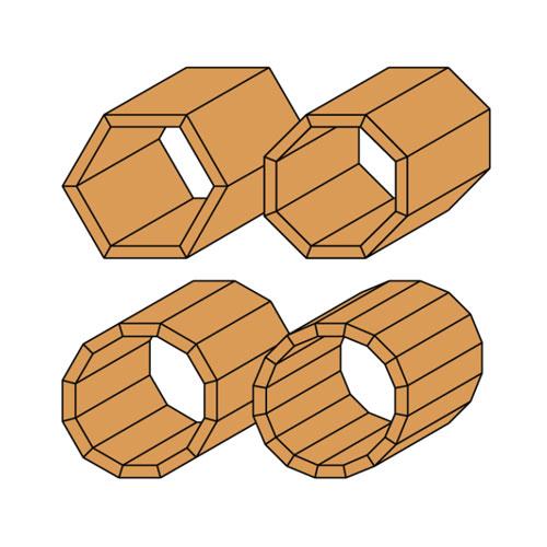 Фрезер за скосяване CMT D=22.2мм L=55мм I=10мм А=25° S=8мм Z=2, за дърво, HW, RH, с лагер - big, 21745