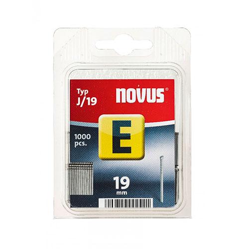 Гвоздей за такер NOVUS J/19, тип J/Е, 1000бр./блистер