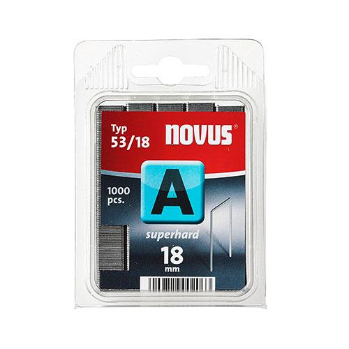 Кламери NOVUS 53/18мм, тип 53/A, тънка тел, 1000бр/блистер