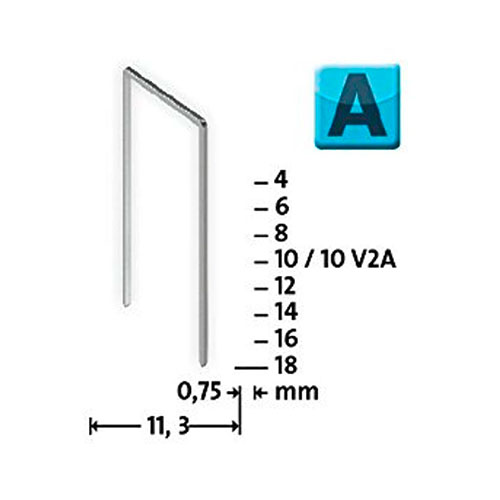 Кламери NOVUS 53/4мм, тип 53/А, тънка тел, 2000бр/блистер - big, 93601