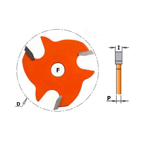 Нут фрезер CMT D=47.6мм, I=2.5мм, P=1.27мм, B=8мм, HW, Z3, RH - big, 20500
