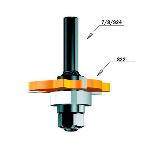 Нут фрезер CMT D=47.6мм, I=2.5мм, P=1.27мм, B=8мм, HW, Z3, RH - big, 20501