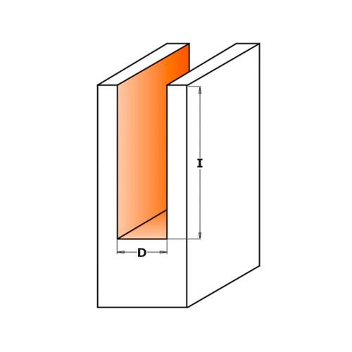 Прав фрезер CMT D=12мм I=31.7мм L=60мм S=8мм Z=2, HW, RH - big, 19660