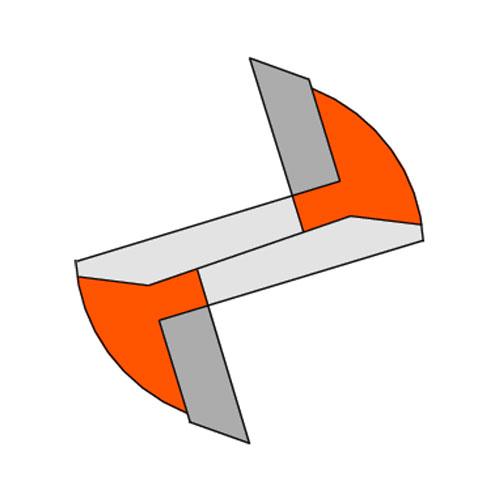 Прав фрезер CMT D=22мм I=20мм L=57мм S=8мм Z=2, HW, RH - big, 18708