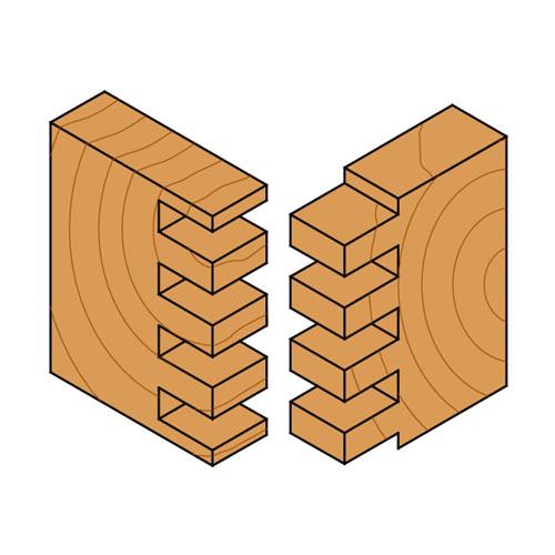 Прав фрезер CMT D=5мм I=12мм L=50мм S=8мм Z=2, HWM, RH - big, 19024