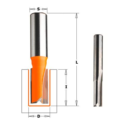 Прав фрезер CMT D=6мм I=16мм L=50мм S=8мм Z=2, HWM, RH - big, 18648