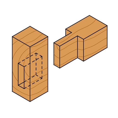 Прав фрезер CMT D=6мм I=16мм L=50мм S=8мм Z=2, HWM, RH - big, 18657