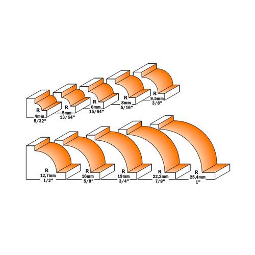 Радиусов фрезер CMT D=31.7мм L=48мм I=14мм R=9.5мм S=8мм Z=2, HW, RH - big, 21668