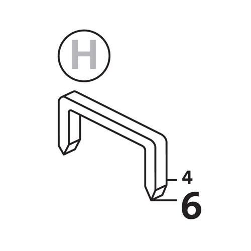 Такер механичен NOVUS J-021, за кламери тип H 3-6мм - big, 48324