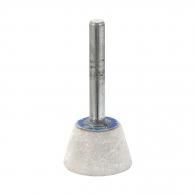 Абразивен шлайфгрифер SWATYCOMET 25х16х6мм, форма OF-камбана, цвят бял, 22А