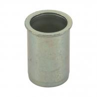 Нит гайка BRALO М6/L=14.5мм, стоманена със скосена периферия, 500бр. в кутия