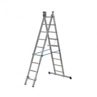Алуминиевa стълба ELKOP VHR T 2х9, 2067/2095/5003мм(на стълбата), двустранна, професионална, 150кг.