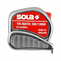 Ролетка SOLA Tri-Matic 3m x 19mm, хромиран пласмасов корпус