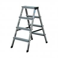 Алуминиевa стълба KRAUSE Dopplo 2х4, 650мм(на стълбата), двустранна, за домашна употреба, 150кг.