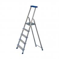 Алуминиевa стълба ELKOP JHR405 4+1, 995мм(на стълбата), едностранна, за домашна употреба, 150кг.