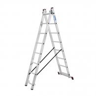 Алуминиевa стълба KRAUSE CORDA 2х8, 3200/4850мм(на стълбата), двустранна, професионална, 150кг.