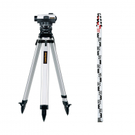 Оптичен нивелир LASERLINER AL 32 Plus set, увеличение 32x, стандартно отклонение 1.5 mm/km